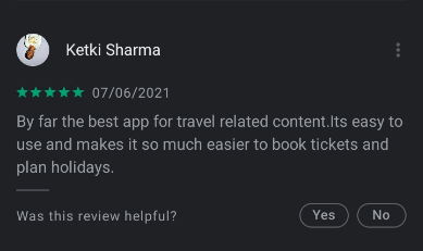 travel app review
